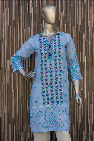 Blue Embroidered Kurti for Women