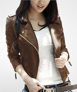Brown Ladies Leather Jacket For Women