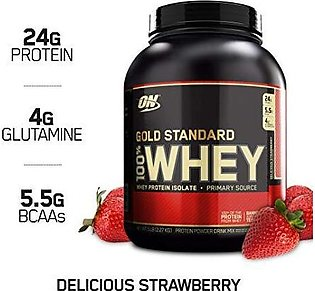 Gold Standard 100% Whey Protein - Delicious Strawberry - 5lb