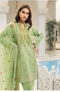 """GA - GA - Gul Ahmed-Summer Collection 2019 Green Swiss Voile Collection-3 PC Unstitched-LSV-13 -195978"""""""