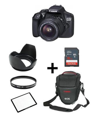 Pack Of 6-EOS 1300D With 18-55mm,16GB,V Bag,Screen Glass,Lens Hood,Lens Filter