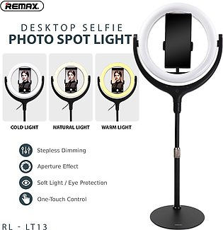 REMAX 26CM WITH STAND LIFE DESKTOP SELFI SPOT LIGHT RL-LT13 - 26CM RING LIGHT -…