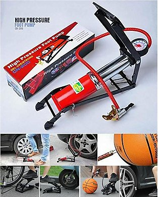 High Pressure Steel Inflator Foot Air Pump For Cycle, Motorcycle and Cars