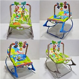 Branded Baby Bouncer With Hanging Toys