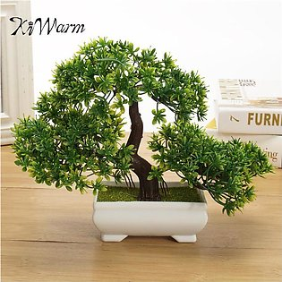 18cm Bonsai Tree in Pot , Artificial Plant Decoration For Office and Home USA