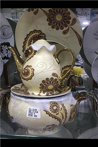 Full Gold Cheeni Dinner set - 75 pieces