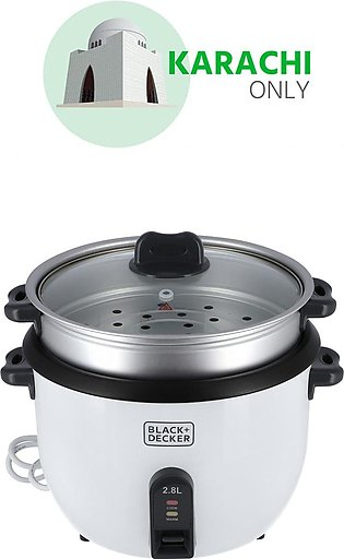Black + Decker 2.8 L Automatic Rice Cooker RC2850 1100W White