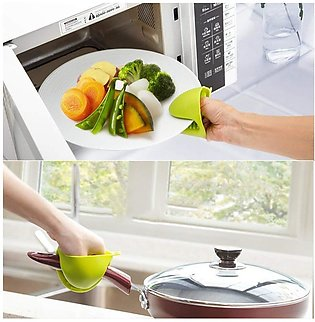 { High Quality } - Kitchen Heat Resistant Silicone Cooking Gloves Pot Holder (1…