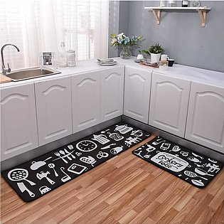 Topsky Non-Slip Kitchen Mat Printed Stripe Rug Set Doormat Vintage Design Nor...