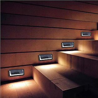 Solar Stair Light - Solar Stairs Lights Waterproof LED Solar Lamps Outdoor Land…