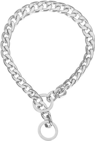 13mm Silver Smooth Curb Cuban Link Stainless Steel Dog Chain Pet Collar # 18inch