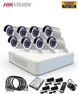 Hikvision 8 CCTV Cameras Package - 1080P - 2MP