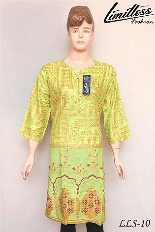 New and Latest Multicolor Printed Cotton Lawn Kurti for Women