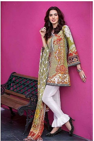 GA - GA - Gul Ahmed-Summer Collection 2019  Green Lawn-3 PC Unstitched-CL-374...
