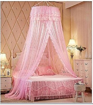 Mosquito Net Bed- Baby Pink