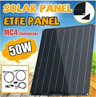 ETFE 50W Flexible Solar Panel Module Kit Car Boat Charger Dual MC4 Controller