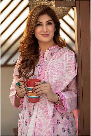 GA - GA - Gul Ahmed-Summer Collection 2019  Pink Lawn-2 PC Unstitched-TL-181 ...