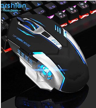 Gaming Computer Mouse 7 LED Lights  Silent Clicker  for different Games