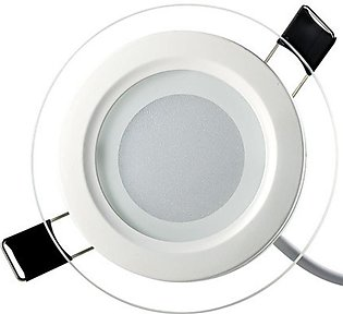 LED Glass Downlight Round Glass Panel Lights Ceiling Recessed Lamp