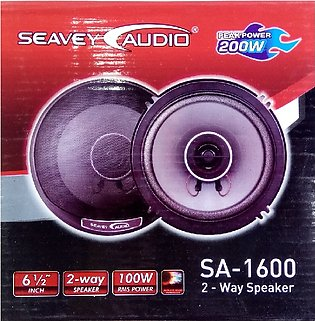 Pack Of 2 - Seavy 6.5 Inch 2 Way Car Speakers With Tweeter 100 Watt For Car and…