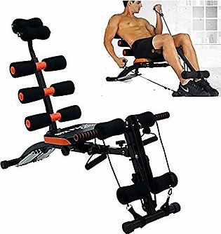 Gym AB Six Pack Care Exercise Chair Bench fitness equipment With Cycle - Red & …