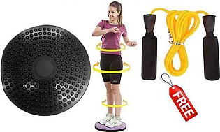Fitness Twister Disk for Belly Shape with free Gift Jumping Rope