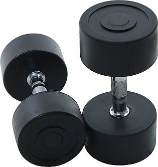 High Quality Beautiful Stylish Professional Rubber Coated Dumbbell Fitness Home…