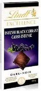 Lindt Excellence Black Currant Dark Chocolate, 100G