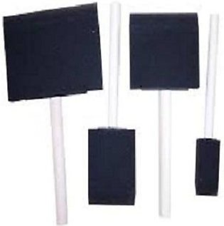 Outus Assorted Size Poly Foam Brush Set Foam Paint Brushes with Wood Handle, ...
