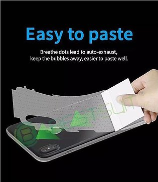 OPPO A7 Clear Galossy Jell Protector Back