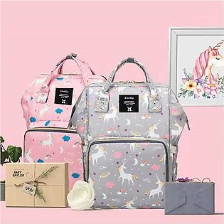 Multifunctional Diaper Bag And Backpack Bag For Mother And Baby Care Unicorn