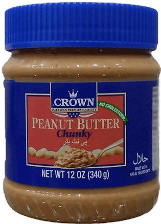 Crown peanut butter chunky 340 g