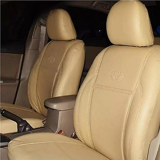 Leather Car Seat Cover for Honda City 2005, 2009, 2015 - Beige / Grey - Front &…