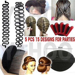 Hair Styling Set Of 5 Hair Accessories
