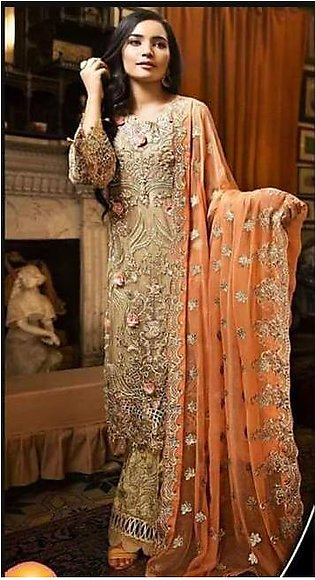 Wedding Collection For Women - Unstitched - 3 Piece