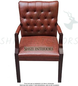 Set of 6 Visitor Chair/Guest Chair - Brown Color - Traditional Office Chair