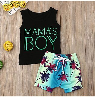 ✫Good Quality✫ Toddler Kids Baby Boys Letter Vest Tops Print Shorts 2PC Outfits…