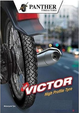 PANTHER Victor Tyre And Tube For Back/Rear Wheel For 70CC Bike