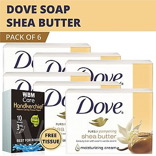 Dove Soap Purely Pampering Shea Beauty Bar with Vanilla Scent- (6 pack) |Made...