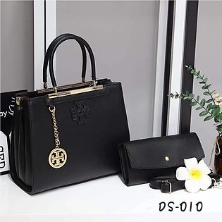 Black Tote Bag & Clutch For Women