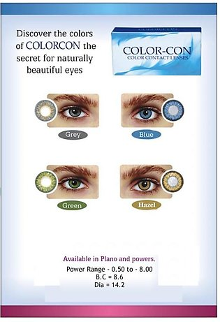 Big Discount on 4 Pair Pack of ColorCon Contact Lenses - HAZEL, GREEN, BLUE AND…