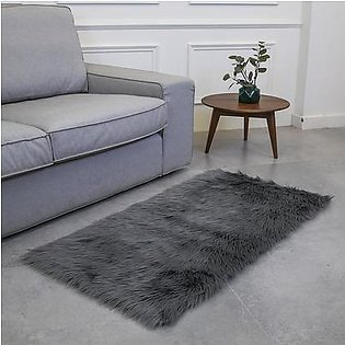 Fluffy Rugs Anti-Skid Luxurious Carpet Floor Chair Decoration Rectangle