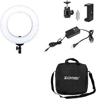 Dimmable Led Ring Light 5500K Photography Photo Studio Light Lamp With Holder