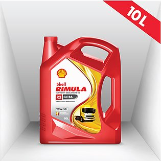 Shell Rimula R2 Extra (20W-50) 10L, Heavy-duty Diesel Engine Oil, Truck OIl