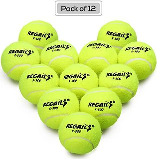 Pack of 12 Pressureless Tennis Balls with Mesh Bag Rubber Bounce Training Pra...
