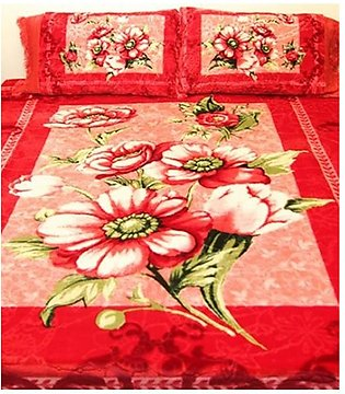 Decorum 4 Pcs Double Bed Embossed Bedcover Set With Blanket - Design # PL-205 /…
