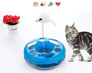 Toy Turntable Cat Training Toys Funny Single-layer Amusement Plate Mouse Cat Toys Dog Interactive Cat Toys Pet Supplies