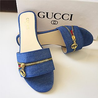 Gucci Slippers New Zipper Design