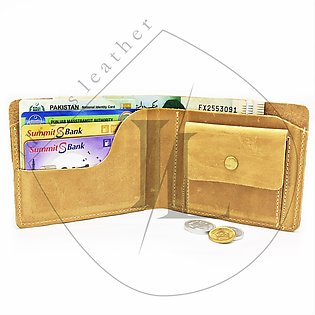 Leather wallet .This leather wallet don't any use of piece of cloths.