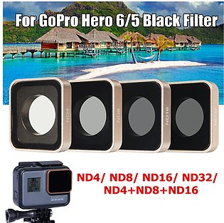 For Gopro Hero 5 6 Black Camera ND4 ND8 ND16 ND32 Lens Filter Kit Replacement -…